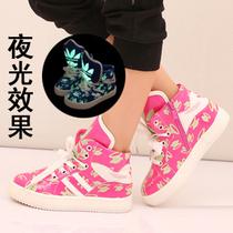 男女孩儿童运动鞋夜光童鞋大嘴猴板鞋2013新款秋韩版潮流中大童 价格:57.00