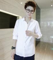 佐丹奴男装 秋装新品男式白色长袖衬衫 男款修身寸衫衣服衬衣秋衣 价格:48.00