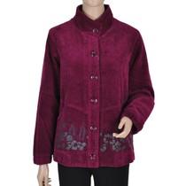 时达1231 新款秋装纯棉条绒灯芯绒外套 中老年休闲百搭大码妈妈装 价格:148.00