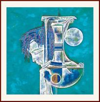 国画 写意人物画  现代抽象装饰画 近现代 丁虹 春分 斗方 价格:144.00