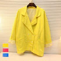 韩国代购 大翻领蝙蝠袖宽松夹克式风衣复古西装外套 W11# 价格:83.00