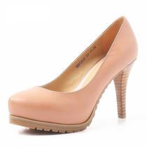 2013新款BASTO/百思图正品高跟真皮防水台OL职业工作鞋女鞋子单鞋 价格:158.00