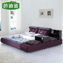 芭迪雅布艺床 品牌软床储物榻榻米床1.5 1.8米双人床绒布床B713 价格:2860.00