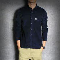 2013秋季新款日系韩版 复古灯芯绒条绒 英伦修身 男士长袖衬衫 潮 价格:99.00