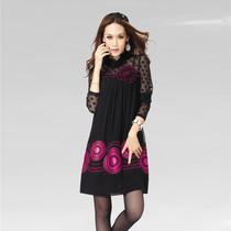 裙子胖人显瘦宽松打底裙秋装韩版最新品加肥特大码连衣裙修身显瘦 价格:265.00