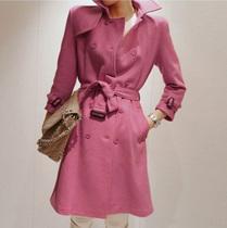 2013秋冬新款风衣 韩国代购纯色女装外套修身大衣羊毛呢大衣 价格:188.01