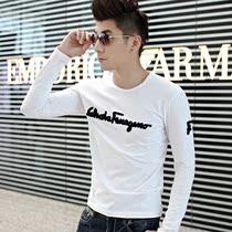 长袖T恤男 打底衫秋装韩版袖长男装t恤男士长袖T恤秋衣潮新品洛本 价格:39.00