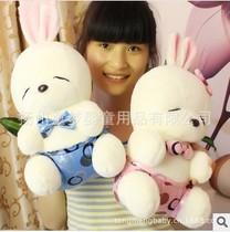 正版可爱创意领结流氓兔公仔毛绒玩具布娃娃情侣兔兔玩偶生日礼物 价格:32.00