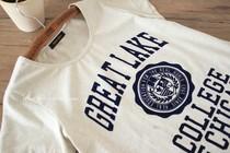 日单新款夏装原单学院风清新休闲字母植绒全棉t恤衫短袖女装#628 价格:43.00