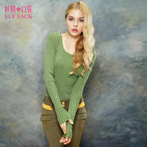 妖精的口袋【ELF SACK】孤独种子~秋装圆领罗纹百搭打底毛衣 价格:99.00