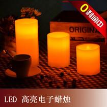 6周年店庆 LED电子蜡烛灯石蜡工艺婚庆蜡烛彩盒独立包装含电池 价格:14.50