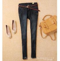 欧时力2013秋装正品新款深色小脚牛仔裤 修身 配腰带 女 特价 价格:110.00