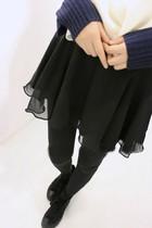 2014春秋款 百搭假两件双层雪纺百褶打底裤裙连裙裤打底裤女 价格:32.00