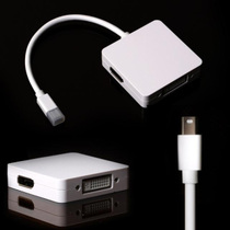 苹果macbook pro air Mini DP to HDMI DVI DP 3合1 mac 电脑配件 价格:58.00