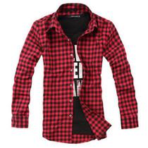 2012美特斯邦威正品新款春装男装韩版衬衫长袖法兰绒衬衣格子控 价格:48.00
