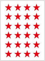 永实YS024幼儿园星星粘纸 直径15mm红色五角星不干胶贴纸 12张/包 价格:1.80