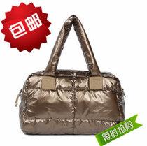 包邮2013新款韩版珠光面羽绒包包棉袄包太空包单肩斜挎女包包 价格:45.39
