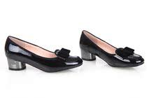 奥康 2014新款 蝴蝶结浅口套脚单鞋 女 橡胶底中跟 马蹄跟女鞋 价格:128.00