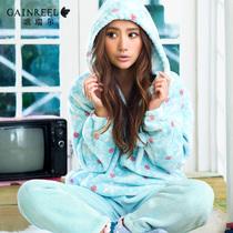 冬季品牌家居服睡衣歌瑞尔艾若拉珊瑚绒可爱女士大码居家服套装 价格:119.00