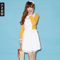 夏娜 2012夏春秋装新款女装 糖果色波点针织衫短款小开衫女 0299 价格:49.00