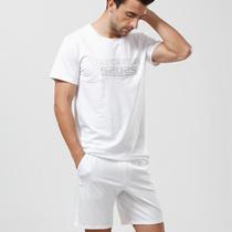 【52025】男士家居服睡衣套装 高品质舒适 莫代尔棉T恤短裤套 价格:129.00