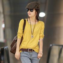 原来的我 2013新款百搭秋装打底衫长袖t恤女修身韩版打底衫女韩版 价格:84.00