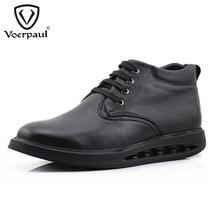 沃尔保罗冬季新品潮流男士棉鞋 真皮保暖 高帮休闲男鞋 英伦厚底 价格:299.00