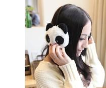 新款韩国保暖卡通熊猫兔子 毛绒 保暖护耳套耳罩 卡通动物耳罩 价格:5.00