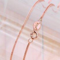 周大福款她氏珠宝 18K黄金项链 白金 玫瑰金 彩金项链女 狐尾链 价格:560.00