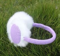 韩国女士可爱甜美毛线针织雪花毛毛护耳套保暖耳罩耳捂批发 价格:7.50