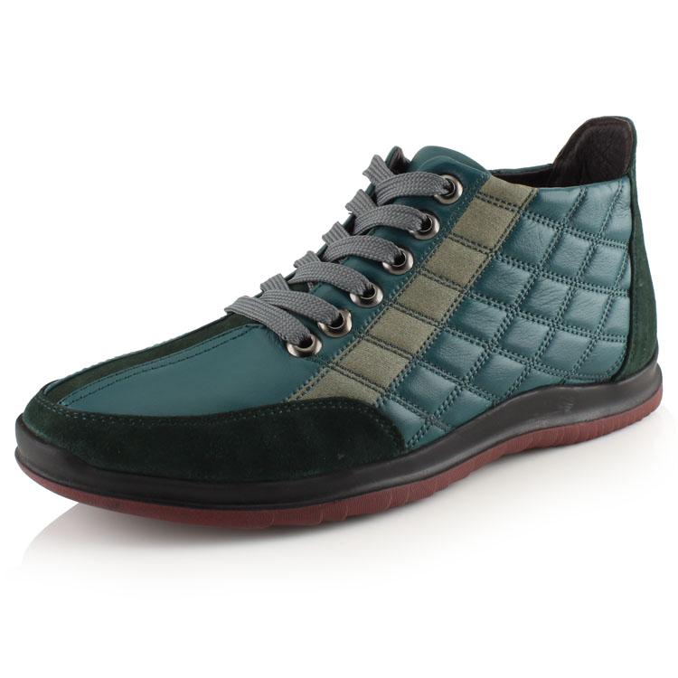 沃尔保罗冬季新款高帮棉鞋真皮头层皮男鞋保暖舒适短绒毛男士皮鞋 价格:286.00