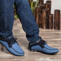 2014夏季春款网布透气豆豆鞋休闲英伦商务鞋英伦潮流行运动男士鞋 价格:98.00