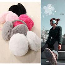 日韩国秋冬毛绒 超大耳套 可爱保暖绒毛耳罩 颜色可选 价格:1.89