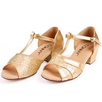 康尼CONNY拉丁舞鞋 女儿童少儿国标舞蹈鞋软底小孩跳舞鞋幼儿女童 价格:75.00