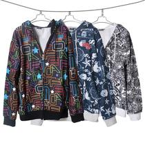 热力清仓 秋季男装新款韩版男 卫衣外套翻领开衫 个性带帽朋克衫 价格:39.20