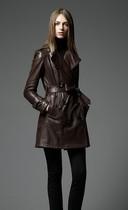 老客必收●特 高端自留款 极品小羊皮 中长款皮风衣皮衣女 价格:2680.00