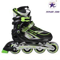 新款力星包邮 单排轮滑鞋儿童 正品可调溜冰鞋 成人休闲旱冰鞋 价格:326.00