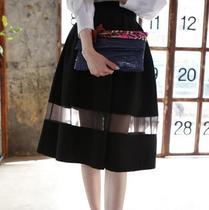 韩国正品代购2014新款bubblie&chic超美百搭半身裙 中裙 价格:235.00
