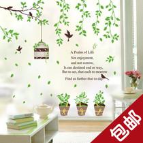 包邮 可移除墙贴 鸟笼盆栽 客厅卧室电视沙发背景墙壁贴贴画 价格:18.80
