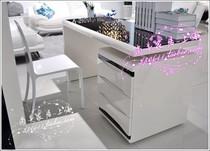 高档韩式象牙白亮光烤漆书桌 家用电脑桌 时尚现代办公桌 办公台 价格:1730.00