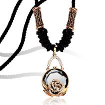 卡洛美项链 女 韩国时尚神秘园奥钻水晶毛衣链 长款 韩版大牌配饰 价格:83.30