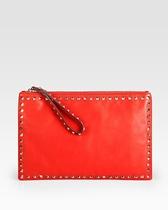 美国正品代购2012新款Valentino华伦天奴女式时尚铆钉手拿包包邮 价格:9537.00