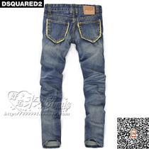 新款D2牛仔裤陈冠希牛仔裤街头高档后口袋设计纯棉男士直筒牛仔裤 价格:151.00