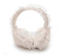 全场两顶包邮 韩版耳套双层加厚人造毛蕾丝珍珠保暖耳罩耳套耳暖 价格:19.80