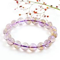 手工订做 情侣款 天然水晶 玻利维亚紫黄晶手链 招财开运增智慧 价格:147.84