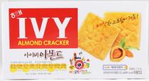 韩国进口食品批发 海太IVY杏仁酥饼 杏仁薄脆饼干 14盒/箱 价格:112.00