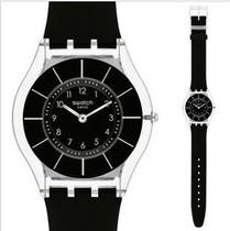 联保正品Swatch 斯沃琪 手表 瑞士淑女超薄女表 蝉翼 黑 SFK361 价格:560.00