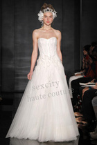 高级定制婚纱礼服--Reem Acra-上海实体店-定制实样 价格:7300.00