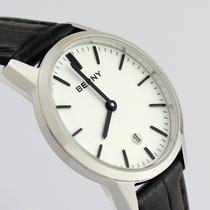 正品伯尼berny 钢壳带日历女表 女式真皮表带女士手表 时尚经典 价格:299.00