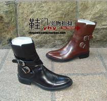 英伦风正品livtyler/丽芙泰勒男鞋 牛皮短靴 秋冬新款牛仔靴 实拍 价格:428.00